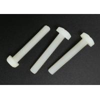 M5X20 Cross Recess Round Head White Plastic Nylon Screws with Flat Point