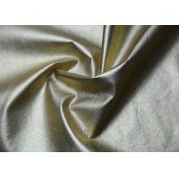 Wholesale Gold Pearlied Polyurethane Faux Leather , Custom Synthetic Leather Fabric from china suppliers
