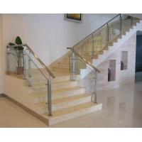 Wholesale Tempered glass railing with square post for interior staircase glass railing design from china suppliers