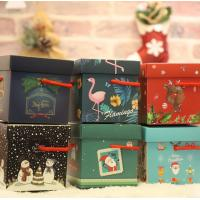 Wholesale Personalized Christmas Paper Gift Boxes , Red Color Gift Packing Box from china suppliers