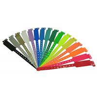 China PMS Color Plastic ID Bands , Custom Event Wristbands For Admission Tickets on sale