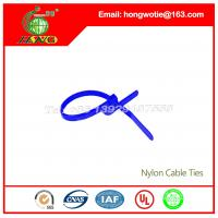 China 200Pc 4.8x500mm Locking Nylon Fastener Pack Cable Zip Tie Teeth Grip blue 0.18x19.7inch on sale