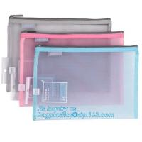 China promotion pvc binder file A4 mesh zipper waterproof bag from professional manufacturer, A4 A5 clear nylon mesh file fold on sale