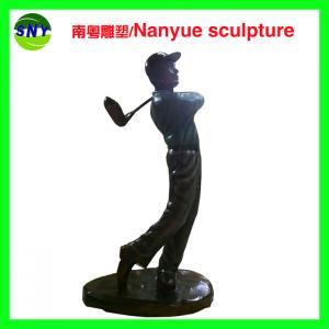 Wholesale customize size figurine souvenir golf man statues sculpture  by fiberglass bronze color from china suppliers