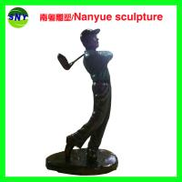 Wholesale Life size  golf man statues sculpture  by fiberglass bronze color as Props and oddties in Sport place theme plaza from china suppliers