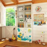 Quality E0 Grade Kids'/Children's Furniture, 2-door Book Cabinet with Printing Cartoon for sale