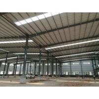 China Easy Assemble Light Weight Warehouse Steel Structure Single Or Double Span on sale