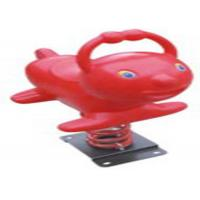 China Red Whale Style Playground Spring Animals , Plastic Playground Spring Rocker on sale