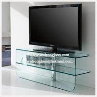 Wholesale Home Furniture Bend Glass TV Stand/Cabinet with CE from china suppliers