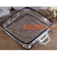 Wholesale Eco-friendly wholesale travel cosmetic bag clear zipper pvc cosmetic bag for women from china suppliers