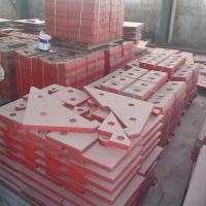 Buy cheap manganese steel crusher liner plates impact plate breaker plate impactor plate from wholesalers