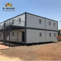 China Mobile Flat Pack Prefab House Easy Install Waterproof Heat Resistant on sale