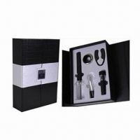 Wholesale Bar Set, Includes 1pc Cork Pops Wine Opener, 1pc Wine Pourer and 1pc Wine Vacuum Stopper from china suppliers