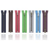 Wholesale Anti-brass plated Brass Metal Zipper 8# , eco-friendly OEM available for jean jackt from china suppliers