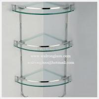 Wholesale Three Layer Bathroom Shelf with Clear Tempered/Toughened Glass from china suppliers
