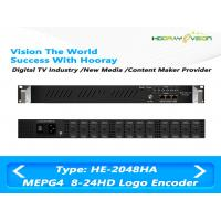 Wholesale HE-2048HA 8 to 24 Channel MPEG-4 AVC/H.264 HD IP  Multi Channel Encoder support Logo OSD QR code from china suppliers