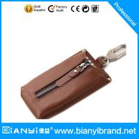 Wholesale Hot Selling Fashionable Design Handmade Custom Promotion Cheap Leather Keychain bag from china suppliers