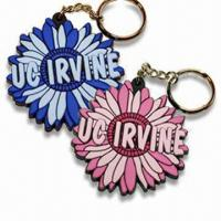 Wholesale Flower Shaped Keychains, Various Styles are Available, Made of Soft PVC from china suppliers