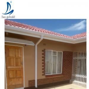 China PVC Rain Gutter Philippines, factory cheap price 5.2inch rectangular rain gutter Nigeria Kenya on sale