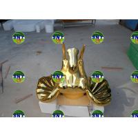 Wholesale Home Deco  fiberglass golden elephant head statue/sculpture as decoration in hotel mall display model from china suppliers
