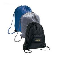 China Black / Blu / Grey Promotional Gift Bags Polyester Drawstring Backpack on sale