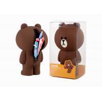 Wholesale Brown Bear Silicone Pencil Case Stationery Stereo Creative Pen Box With Logo Customized from china suppliers