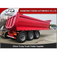 Wholesale 25 Cubic Meters 3 Axles Cement Dump Semi Trailer from china suppliers