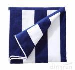 Wholesale 100% Cotton Plush Cabana Stripe Oversize Velour Beach Towel Bath Towel from china suppliers