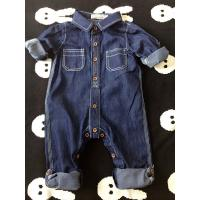 Buy cheap Spring / Autumn Acid Wash Kids Overall Jeans Buckle Design Wear Comfortable from Wholesalers