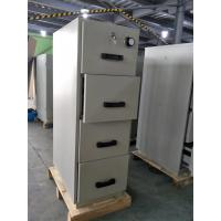 Wholesale Grey Steel Fire Resistant Filing Cabinets 4 Drawers For Valuable Records / Documents from china suppliers