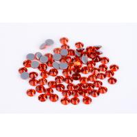 1.5mm - 10mm Large Loose Rhinestones , Heat Set Rhinestones 8 / 16 Facets