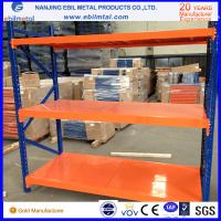 Long Span Shelf Medium Duty rack with wire mesh decking, steel panel, and galvanized panel