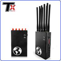 China All In One Portable Signal Blocker , 10 Antenna Portable Mobile Jammer Scrambler Device on sale