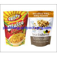 Wholesale Aluminium foil pouch, stand up pack pouch for snack, foil zipper doypack for food packaging from china suppliers