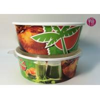 Custom Logo Flexo Print Paper Salad Bowls Disposable 44oz With Lid