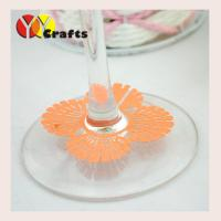 China Laser cut shell Wine Claims , wine glass bottom decoration card on sale