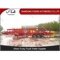 Wholesale 2 / 3 Axles Hydraulic Car Carrier Trailer 8 To 24 Sets Mechanical Suspension from china suppliers