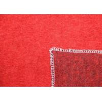 Wholesale Knitting Texture Red Solid Color Merino Wool Knit Fabric For Winter Garment from china suppliers