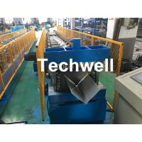 Wholesale Customized Cold Roll Forming Machine With Manual Decoiler For Making Roof Ridge Cap , Ridge Flashing from china suppliers