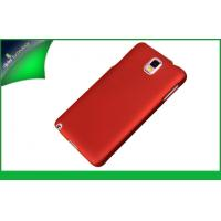 China Rubberized PC Metallic Galaxy Note 3 Samsung Cell Phone Cases Red on sale