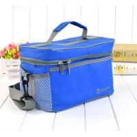 Wholesale 12 Cans Beer Frozen Insulated Cooler Tote Bags Pure Blue Color For Family from china suppliers
