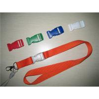 Wholesale Safety polyester neck lanyard with colored plastic detachable buckle, fast release lanyard from china suppliers