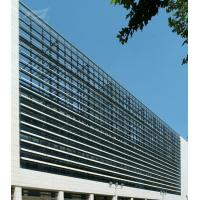 China Public Architectural Sunshade Louvers Architectural Sun Control System 600 Aeroscreen on sale