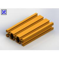 China Sand Blasting Yellow Anodized Aluminium T Slot Channel 2060 For Transmission on sale