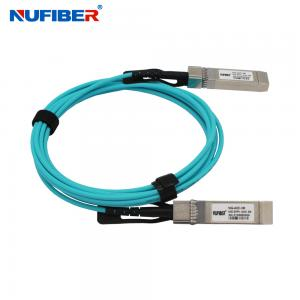 Wholesale Hot Pluggable 1M OM3 10G SFP+ AOC Active Optical Cable from china suppliers