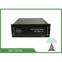 Buy cheap 100Ah 4U Rack 48V Deep Cycle Battery , Lithium Ion Battery For Telecom from wholesalers