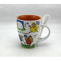 Wholesale Promotional Ceramic Coffee Mugs With Spoon 11OZ Decal Logo Glossy Color Eco Friendly from china suppliers