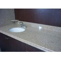 Quality G682 Sunset Gold Prefab Vanity Tops Ogee Edge White Vanity Granite Top for sale