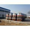 Liquid / Fuel Transportation Fuel Tanker Trailer Q235/6mm Steel Sheet