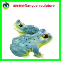 Wholesale special attraction large frog sculptures statues of fiberglass nature painting as landscape from china suppliers